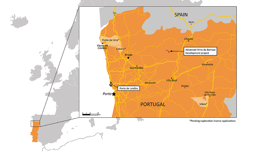 Savannah's lithium project in Portugal moves to next permitting phase