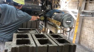 CarbonBuilt's Reversa process allows for the absorption of three-quarters of a pound of carbon dioxide per concrete block. (Image courtesy of CarbonBuilt).